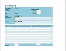 Bill Of Lading Template Free Download Bill Of Lading Template Word Amp Excel Templates