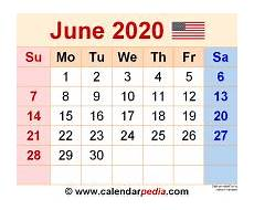 June 2020 Calendar With Holidays June 2020 Calendars For Word Excel Amp Pdf