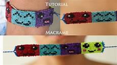 tutorial pulsera macrame de emoticones pulseras de hilo