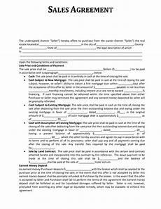 Sale Contract Samples Sales Contract Template Cyberuse