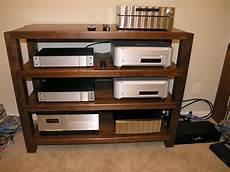timbernation walnut stereo rack 48 quot wide shelves