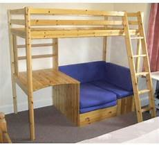 thuka high sleeper bunk bed with desk shelves pull out