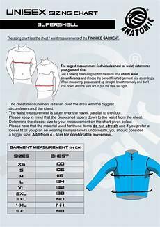 Anatomic Chart Supershell Sizing Chart Anatomic Anatomic Sportswear