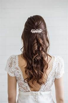 alyssum pearl wedding hair comb millesime