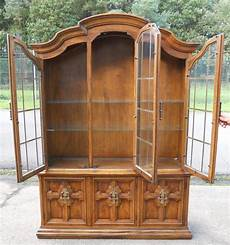 large oak display cabinet by drexel sold