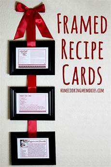 Homemade Recipe Cards Homemade Gift Idea Framed Recipe Cards Home Cooking