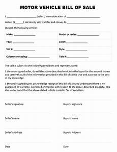 Template For A Bill Of Sale Free Printable Bill Of Sale Templates Form Generic
