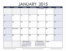 Month By Month Calendar 2015 Free Printable Calendar Printable Monthly Calendars
