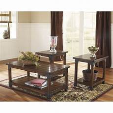 Cf Furniture Living Room 3 Set L Table by Murphy 3 Coffee Table Set In Medium Brown Ebay