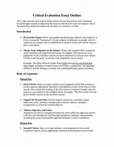 Evaluate Essay Example How To Evaluate Something In An Essay What Is An