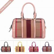 British Designer Bags British Style Plaid Bowler Duffle Bag Doctor Bolsas