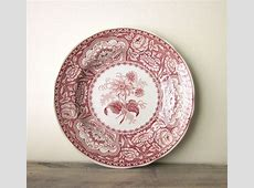 Red Spode china. I have always had a hankering.   The Pale