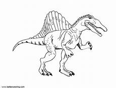 spinosaurus coloring pages clipart free printable