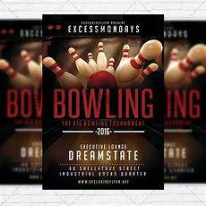 Bowling Flyer The Big Bowling Premium Flyer Template Instagram Size