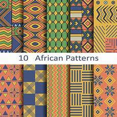 Afrikanische Muster Malvorlagen Xing Vector Style Seamless Patterns Free