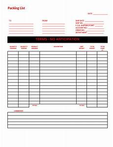 Shipping Packing List Template Free Printable Shipping Packing List Template And Samples