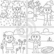 Vier Jahreszeiten Malvorlagen Ausmalbilder Jahreszeiten 05 Jahreszeiten Ausmalen Und