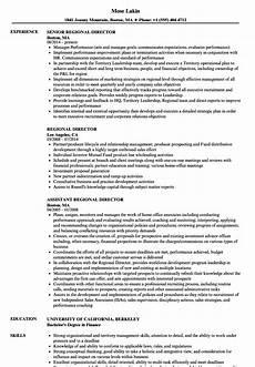 Regional Manager Resume Examples Regional Director Resume Samples Velvet Jobs