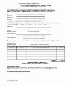Cash Reimbursement Form Free 8 Sample Petty Cash Reimbursement Forms In Pdf Ms