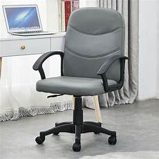 Warmiehomy Office Chair Swivel Faux Leather Armchair Height Adjustable by Small Office Chair Swivel Faux Leather Adjustable Height