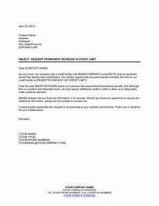 Letter For Increase Credit Limit Notice Of Credit Limit Increase Template Word Amp Pdf By