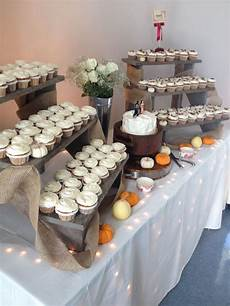 fall cupcake wedding diy ladder display wedding in