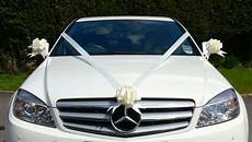 ivory wedding car decoration kit large bows 7 metres of