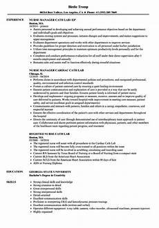 Cardiac Nurse Resume Cath Lab Nurse Resume Samples Velvet Jobs