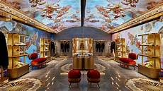 dolce gabbana s rome store features a digital fresco