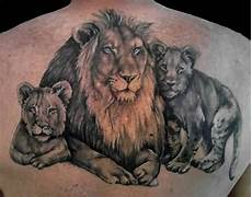 Lion And Lioness Designs Of Lion And Lioness With Their Cubs Tattooshunter