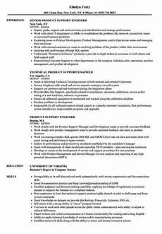 Resume Of Desktop Support Engineer Product Support Engineer Resume Samples Velvet Jobs