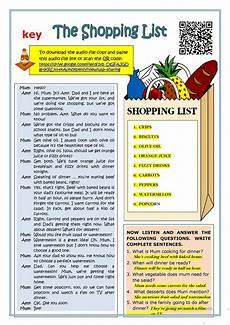 Making A Grocery List Worksheet The Shopping List Reading Worksheet Free Esl Printable