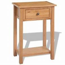 Vasagle Hallway Side Table Bedside Unit With 2 Mesh by Solid Oak Console Table Small Table Telephone Stand