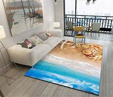 blue mediterranean style 3d carpets for living room