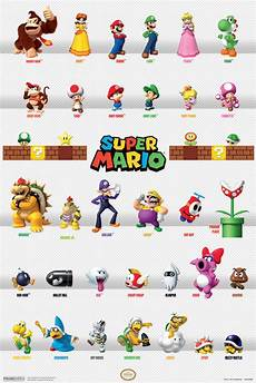 Mario Chart Super Mario Characters Chart Good Bad Guys Nintendo Video