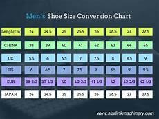 Conversion Chart Men S Shoes Shoe Size Conversion Chart Starlink Shoe Making Machine