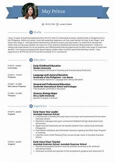 Teaching Resumes Samples Teacher Resume Example Kickresume