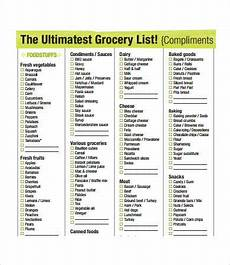 Grocery Shopping Checklist Printable Grocery List Template 7 Free Pdf Documents