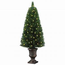 Home Depot Trees With Lights Home Accents Holiday 4 Ft Potted Artificial Christmas