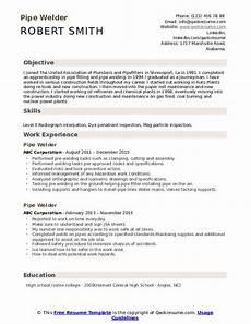 Resume For Welding Pipe Welder Resume Samples Qwikresume