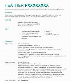Resume Objective For Nurse Nursing Informatics Objectives Resume Objective Livecareer