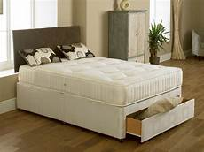 elite orthopaedic 4ft 6in divan bed inc