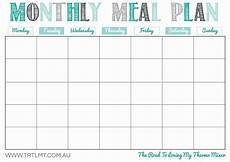 Monthly Plan Template 28 Useful Printable Monthly Meal Planners Kittybabylove Com
