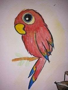 papagei aquarell tiere malen