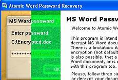 Atomic Word Password Recovery Introduction To The Atomic