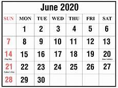 June 2020 Calendar Download June 2020 Calendar Printable Templates Pdf