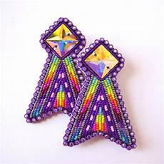 beadwork earrings beyond buckskin powwow glam earrings beyond buckskin
