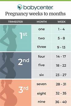 Pregnancy Trimester Weeks Chart How To Count Your Pregnancy In Weeks And Months