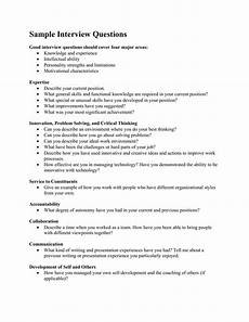 Sample Interview Sample Interview Questions