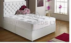 details about white quilted memory foam bed divan mattress